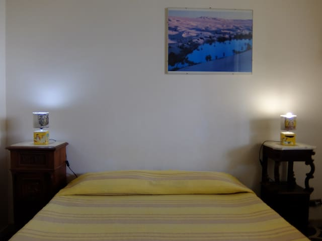The small room with one double-bed.