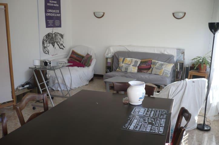 Chambres à louer dans grand appartement - Digne-les-Bains - Apartemen
