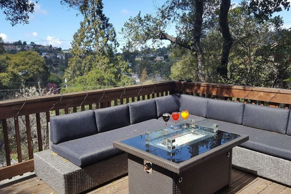 Stunning views from the front deck which opens up from the living room for the perfect indoor-outdoor lifestyle!