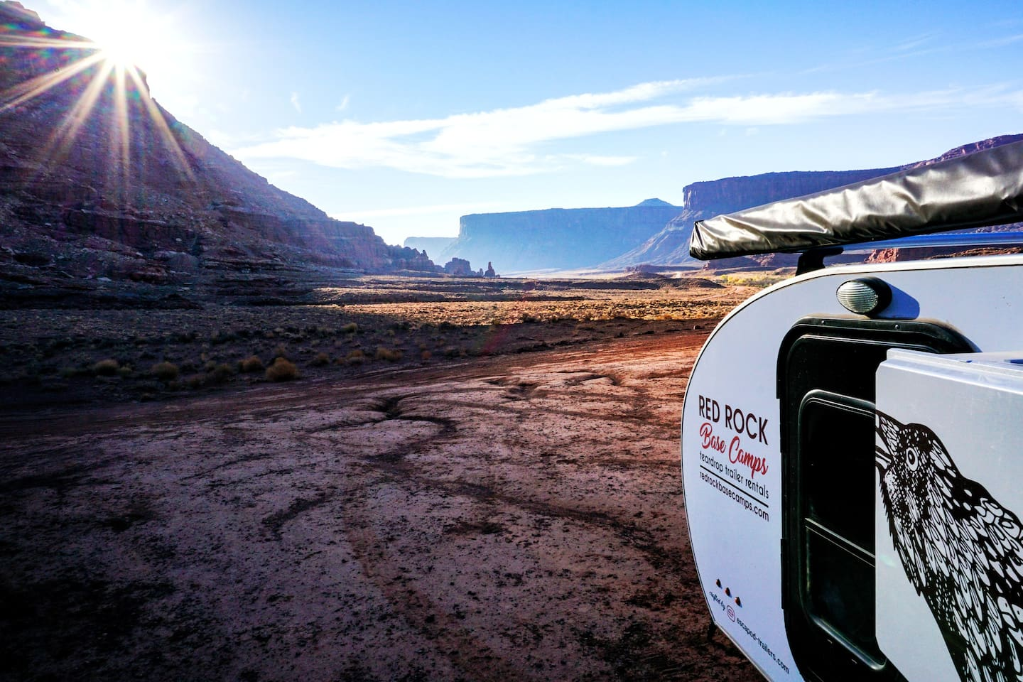 Really experience Moab. Camp in comfort among the red rocks.