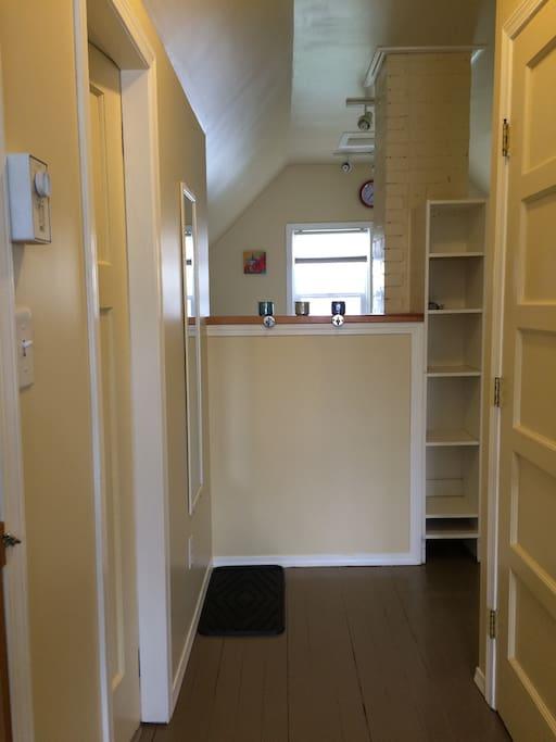 Hallway into Kitchen from front door and livingroom
