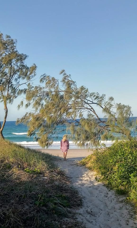 Choose a track through the National Park - 300 m later you are at this beautiful beach!