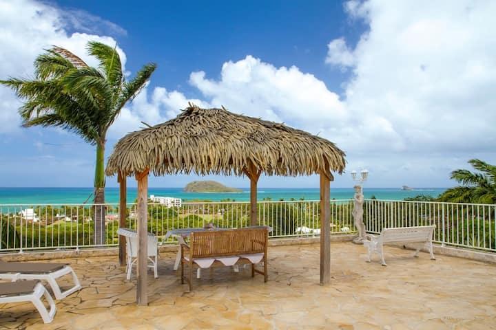 Appartement de 2 chambres à Deshaies, avec magnifique vue sur la mer, piscine partagée, terrasse aménagée - à 300 m de la plage