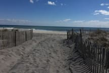 Ahhhhh, perfection! Ponquogue Beach, $25 per car (for day pass).