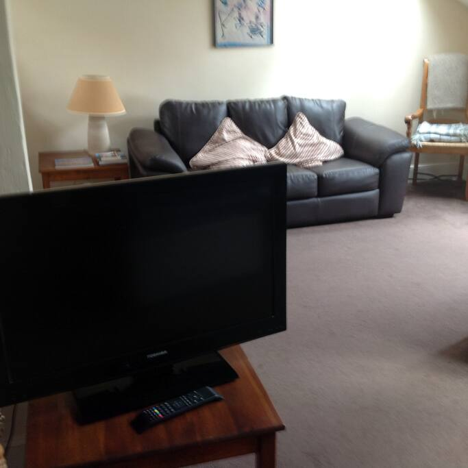 sitting room area with free view TV.
