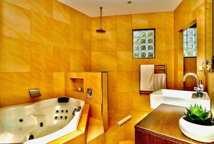 Master Sweet Bathroom with Heated Floor Tiles and Heated Towel Racks