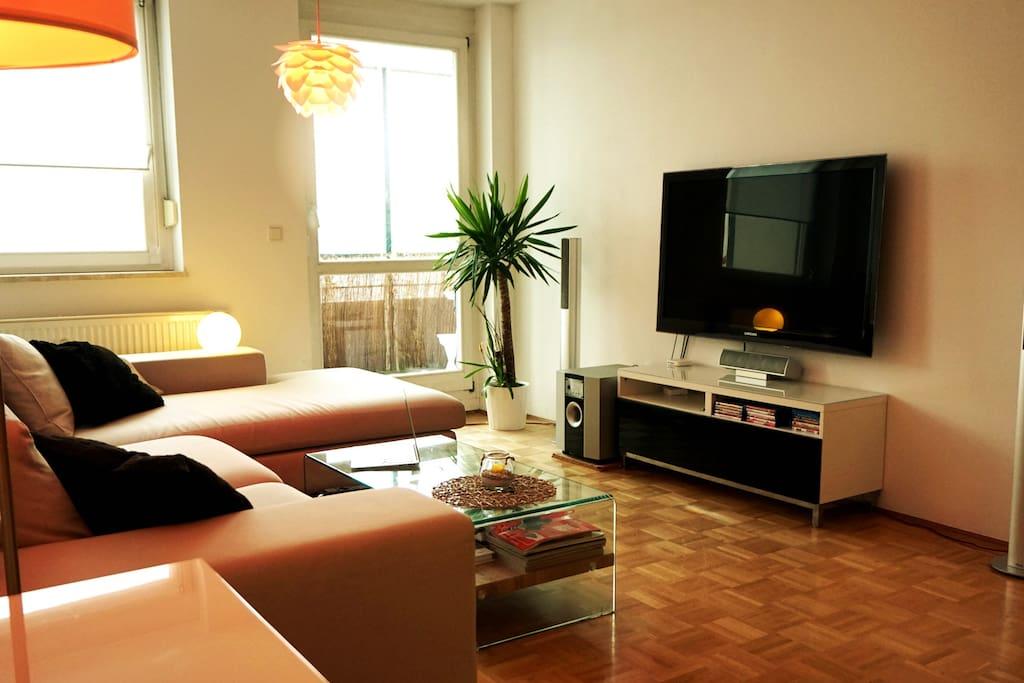 2 room luxury apartment munich fair messe icm for Wohnzimmer riem