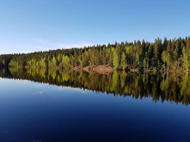 Rauhallinen mökki lähellä Kuopion palveluita