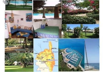 A 300M de la Plage/Piscine/Port/Barbecue - Santa-Maria-Poggio - House