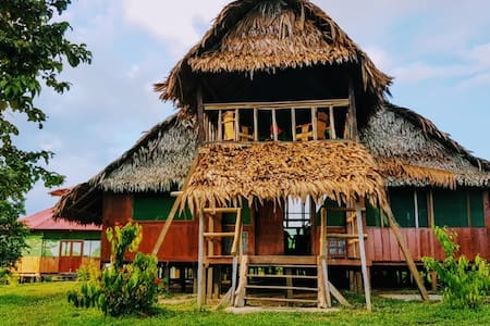Beautiful lodge along the Amazon close to Iquitos