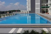 Swimming pool with open view