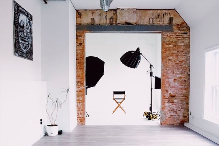 Creative downtown urban film studio loft