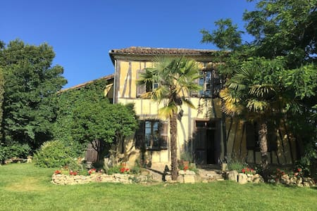 Le Bernussan, Traditional Colombage House - Room 1 - Gers - Bed & Breakfast