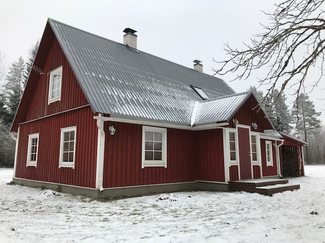 Traditional Estonian country-house.