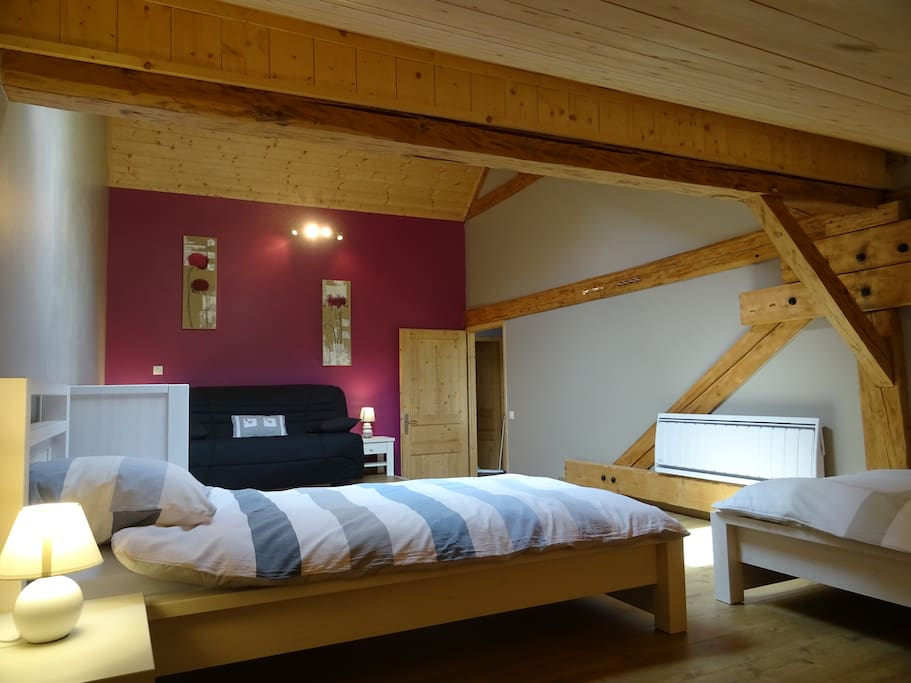 1 ere chambre avec 2 couchages