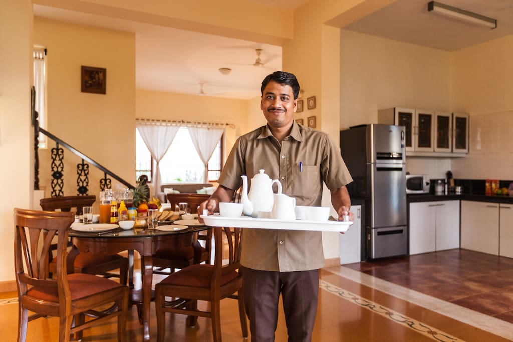 Your private cook is a wonderful host with a wide repertoire of preparations