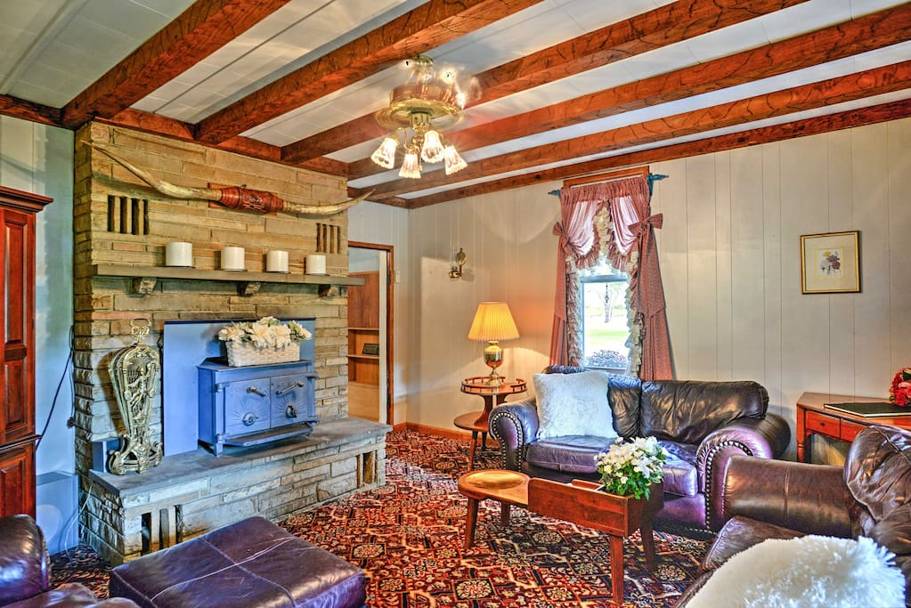 Step inside where a plethora of tasteful decor and antique furniture highlight the cottage.