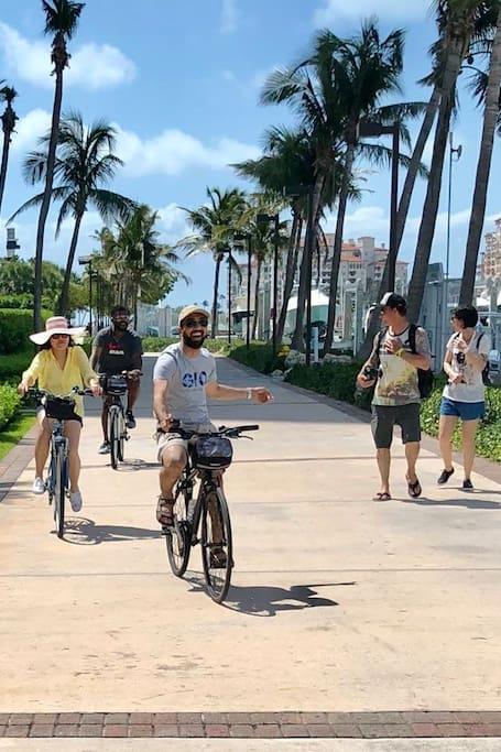 Ride through a tropical paradise.