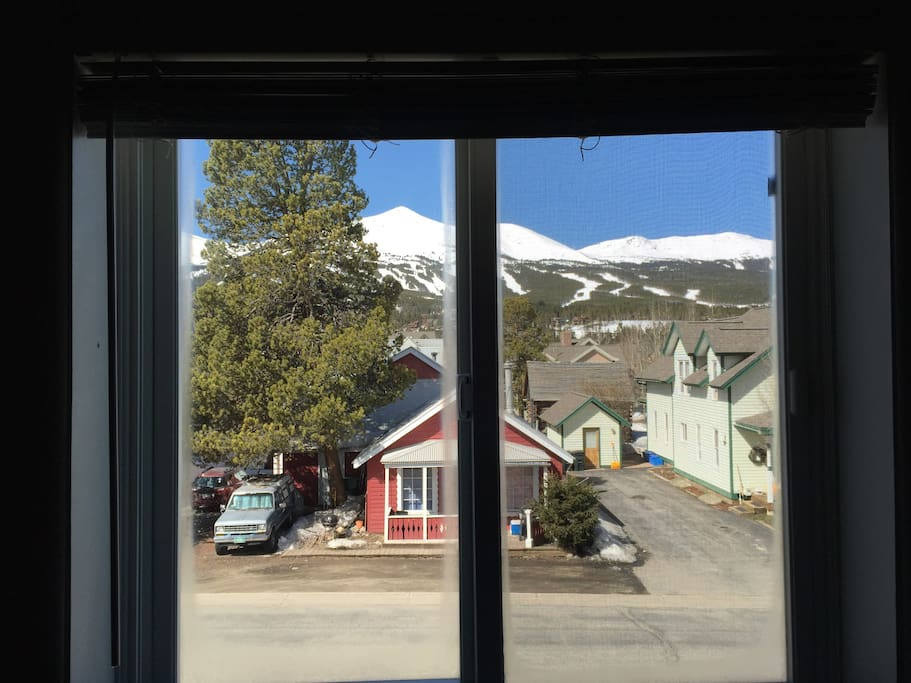 Great view of the slopes from living room window!