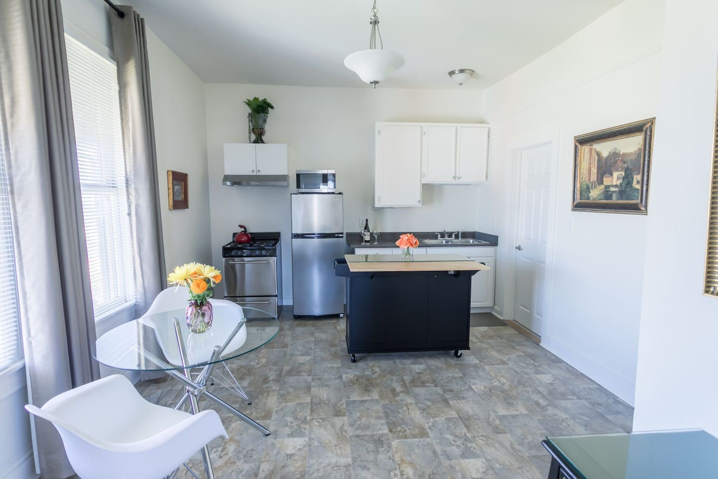 Spacious and Elegant!  Loads of Countertop for you to prepare meals or snacks.