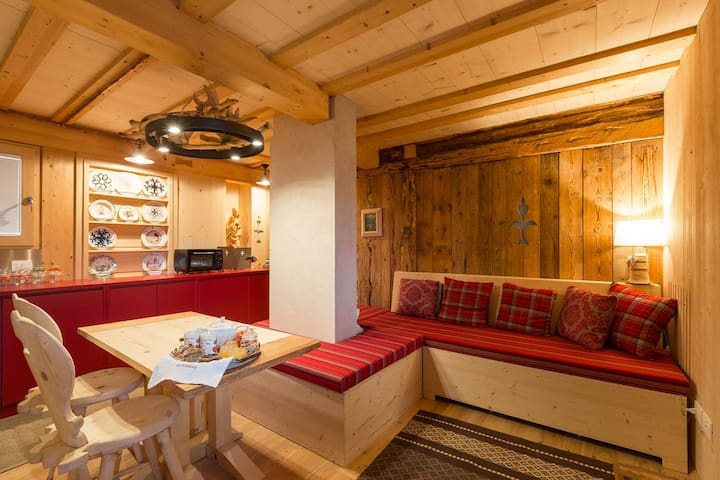 Apartment with sauna and view on Dolomites - Canale D'Agordo - Appartement