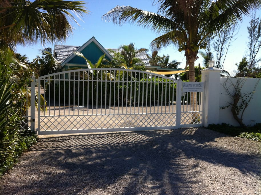 Private Entrance Gate to Property of Diamonds By The Sea