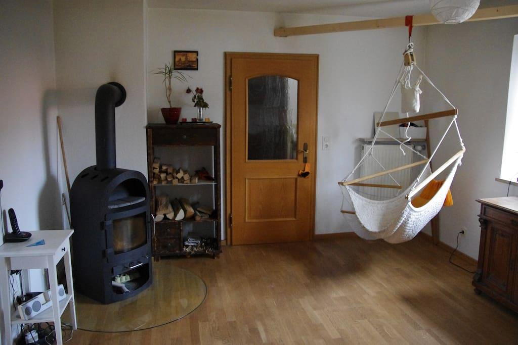 Kamizimmer mit Hängematte