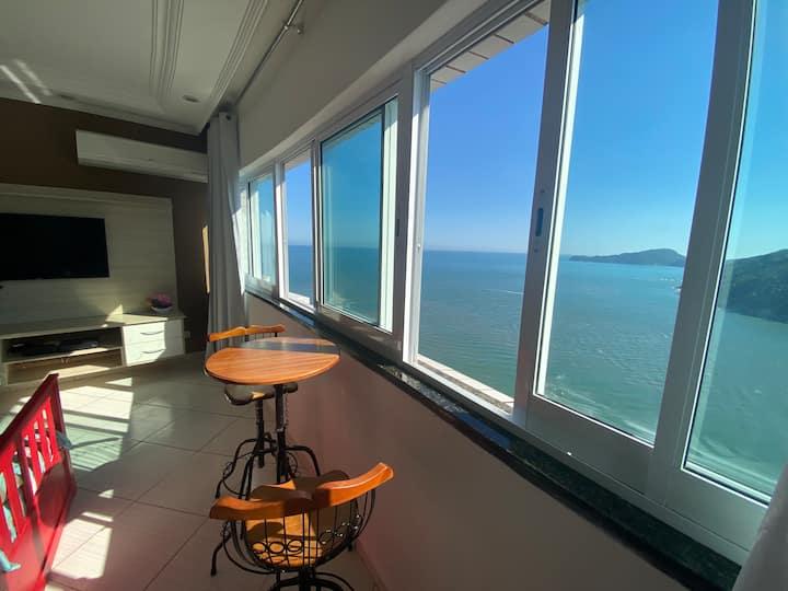 Loft com vista incrível para o mar! Ar cond 8andar