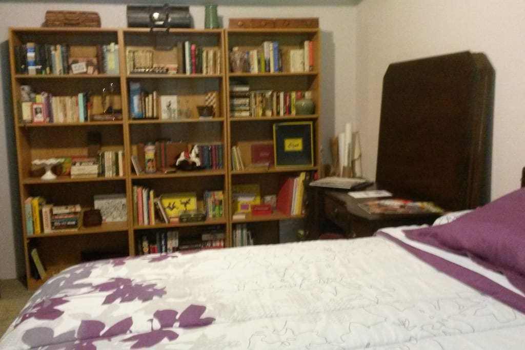 "Bookcase view  ""Nice clean room separate from the main living areas, and a great little book library!"" Michelle Aug 2017"