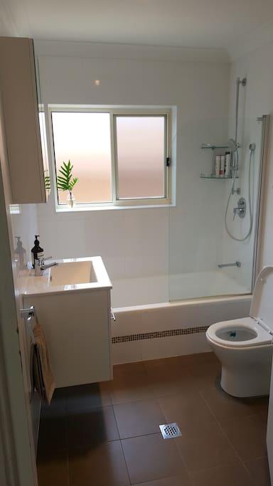 Recently renovated bathroom