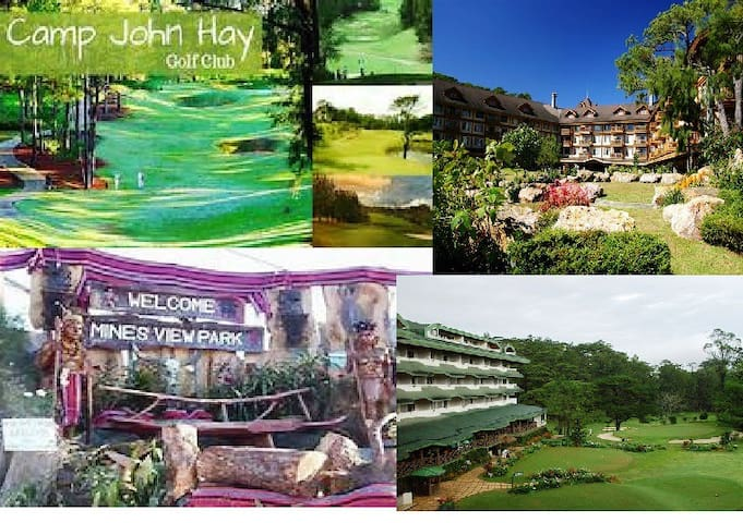 Very close to Camp John Hay, Mines View, The Manor and Baguio Country Club