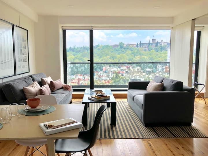 Breathtaking Castle view, entire modern apartment