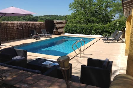 Villa grand confort, Piscine privative, près Uzès - Euzet - Huvila