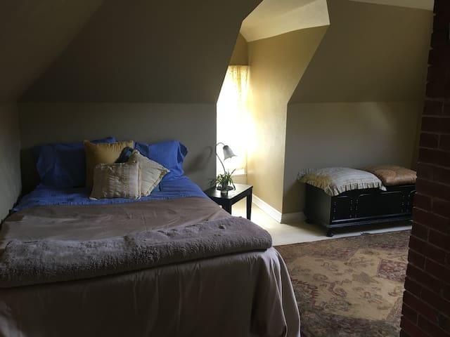 West Marine Victorian dormer room,  faerie garden