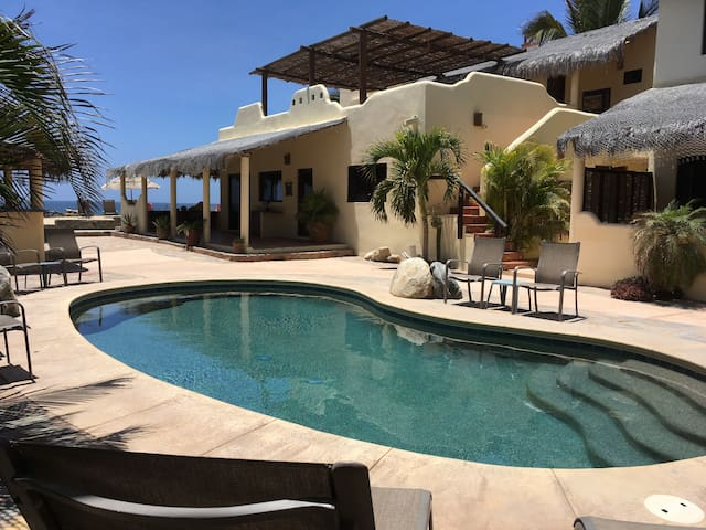 Beach Front! 5 bdrm/ 4.5 bth, Pool and Yoga Studio