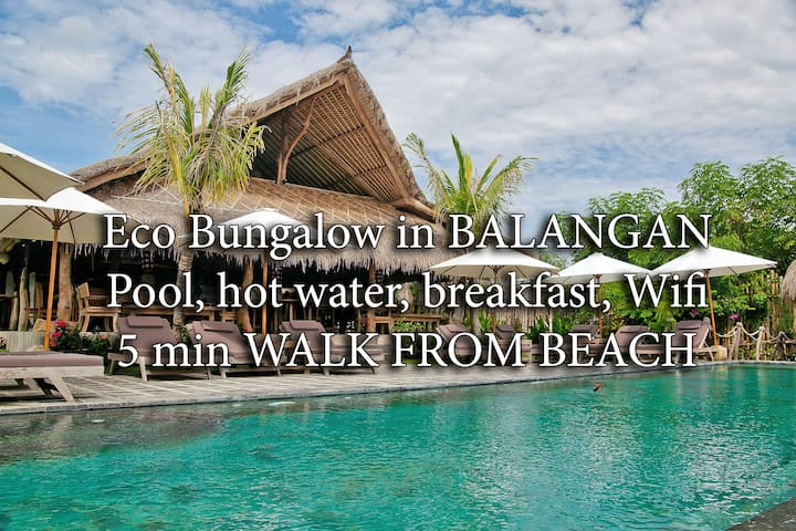 BUNGALOW OASIS, 5min beach, wifi, pool, bfst 2B - South Kuta - Appartement