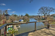You'll have the luxury of fishing off of your private deck.
