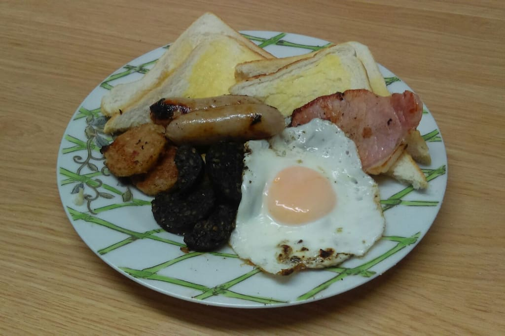 Full Irish breakfast our specialty. Dietary restrictions catered for if notified in advance.