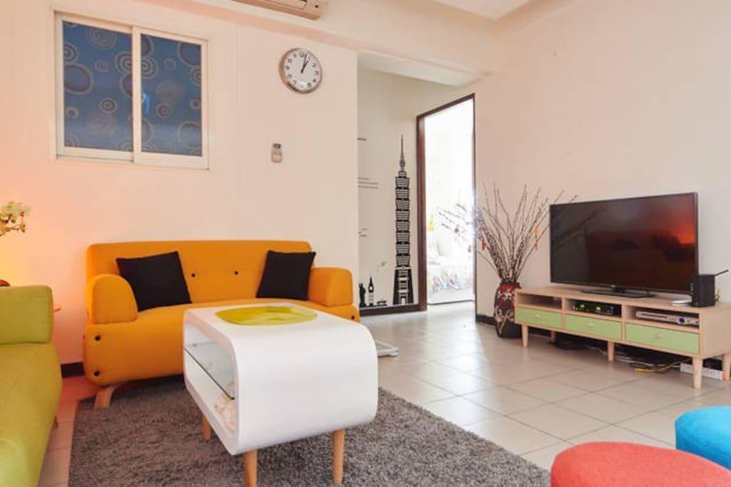 寬敞舒適的客廳