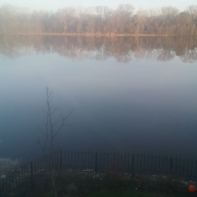View from deck overlooking Mohawk River