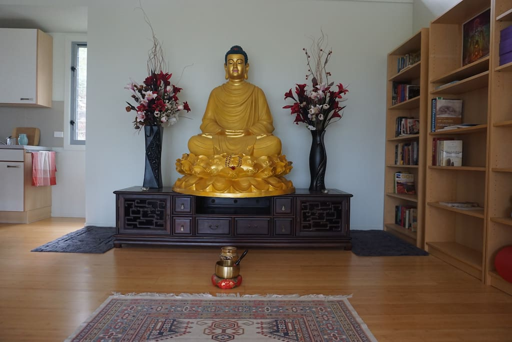 Buddha and meditation space