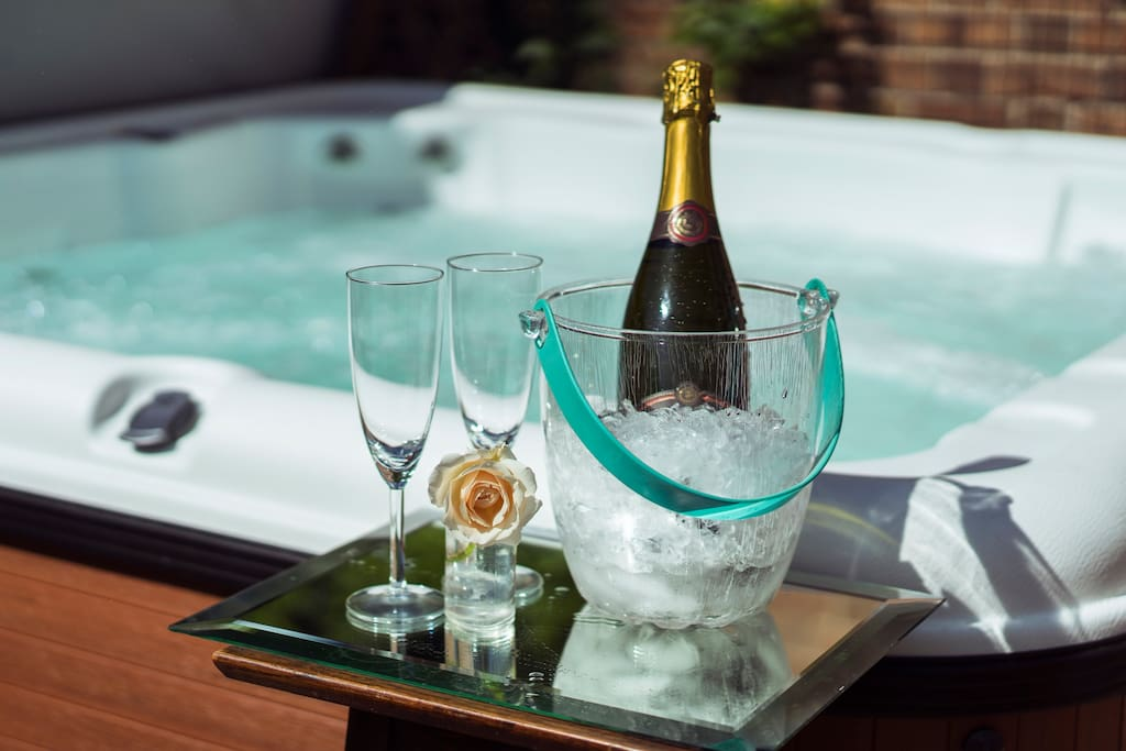 Summer afternoons or dark wintery nights, there's always a good time to relax in the hot tub