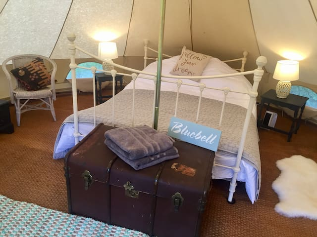 'Bluebell' Luxury Glamping at Preston Court