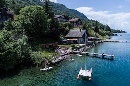 Waterside villa near Evian and Montreux.