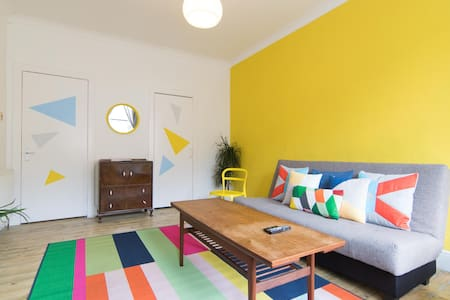Gorgeous Colourful Flat with WIFI - Glasgow - Lejlighed