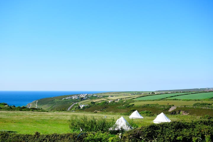Beautiful Cornish Bell Tents with sea views