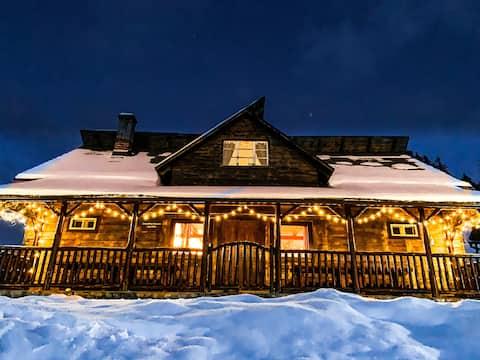 Carpathian Beauties  Log Cabin