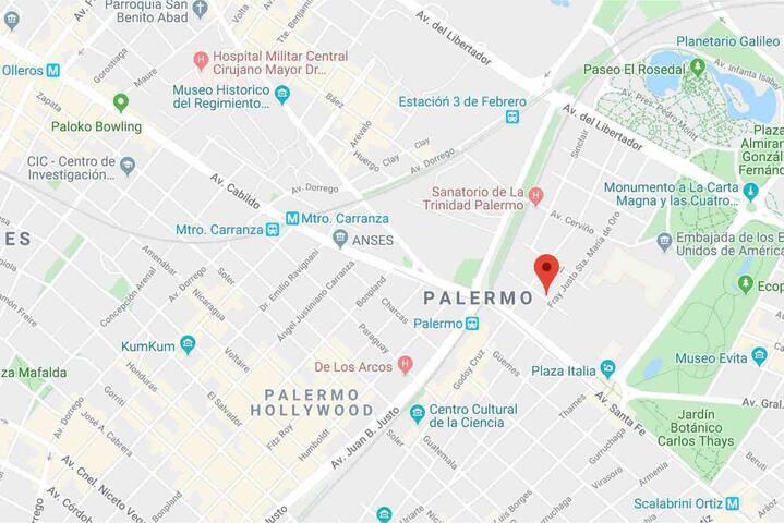 Departamento 2 amb Palermo