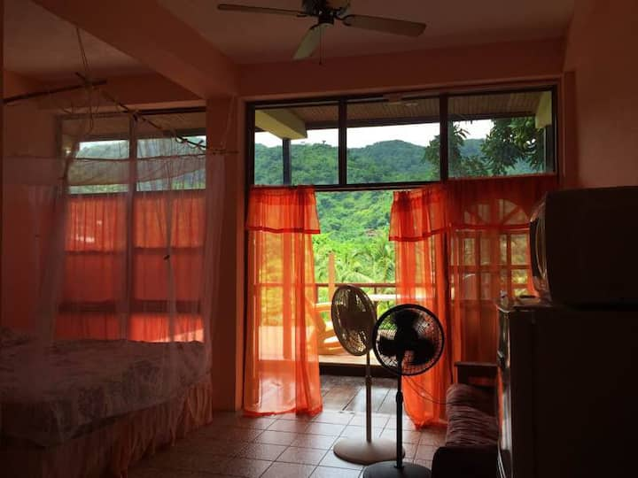 Affordable Studio (Peach) with Sea/Mountain View