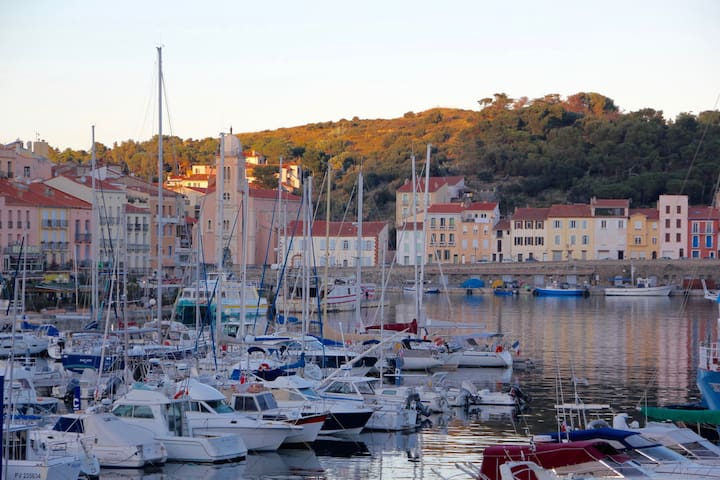 Appt Coquet T3 vue mer 2 chambres 2/4/6 pers wifi - Port-Vendres - Byt